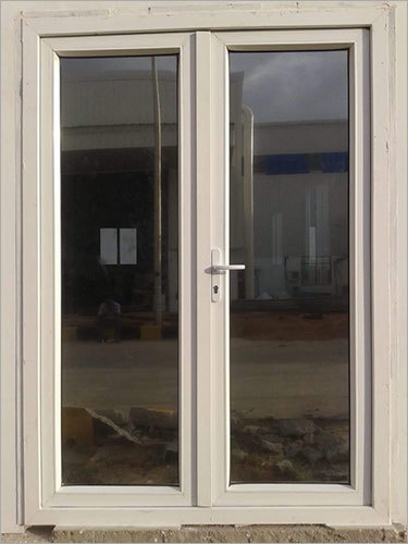 White Frame UPVC Door