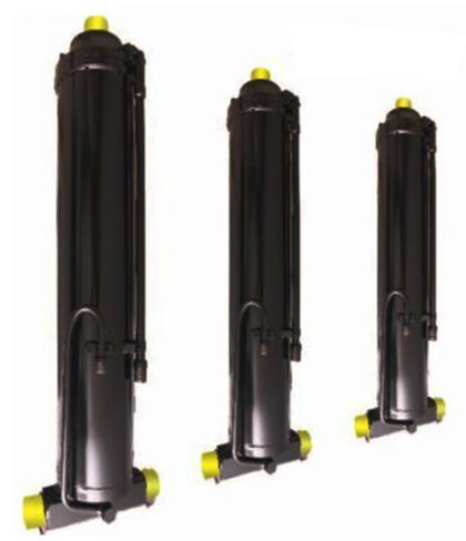 Middle placed lifting hydraulic cylinder