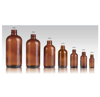 Amber glass bottles for syrup