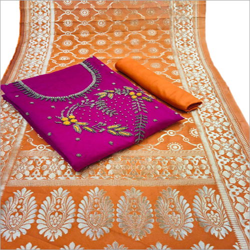 Ladies Banarasi Dupatta Suit