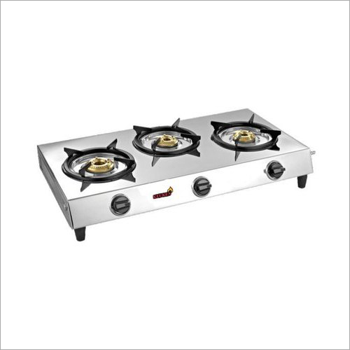Three Burner Gas Stainless Steel Stove