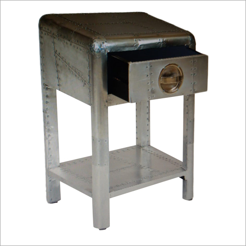 Aviator End Table With 1 Drawer