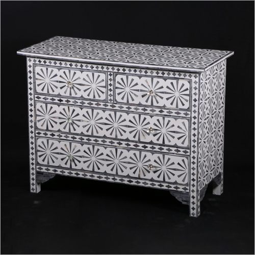 Bone Inlay 6 Chest Drawer