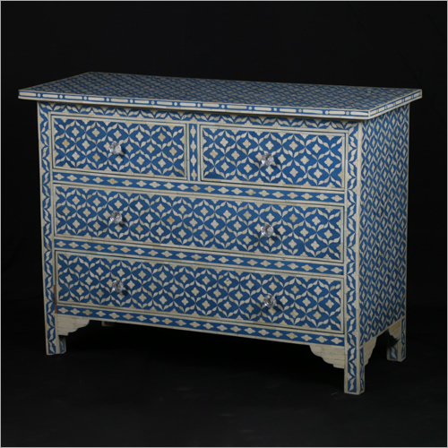 Bone Inlay 6 Drawer Sideboard