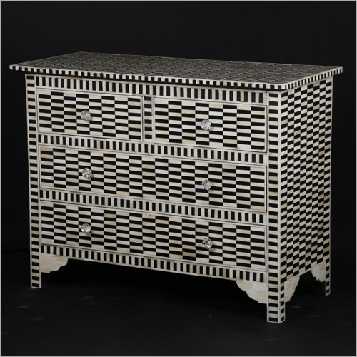 Bone Inlay Designer Chest Drawer