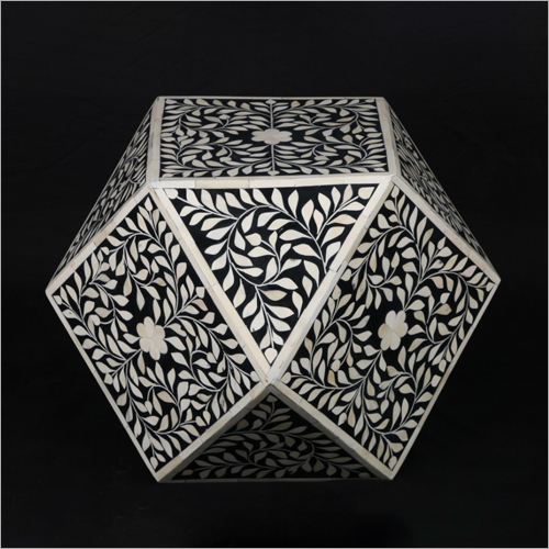 Bone Inlay Designer Stool
