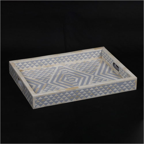 Wooden Bone Inlay Serving Tray