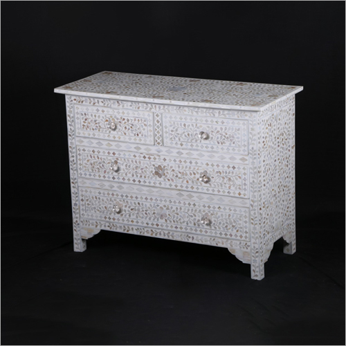 Mother of Pearl Inlay 6 Drawer Chest Drawer