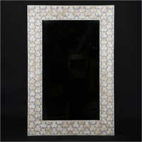 Wall Mount Mother of Pearl Mirror Frame