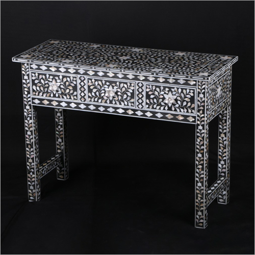 Mother of Pearl Inlay Console Table
