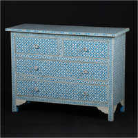 Mother Of Pearl Inlay 6 Drawer Sideboard