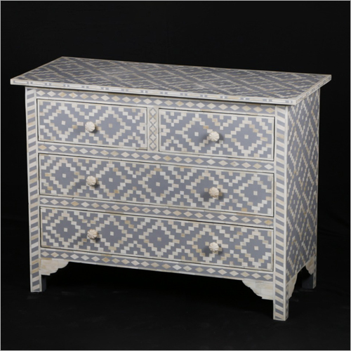 Mother Pearl Inlay Modern Chest Drawer