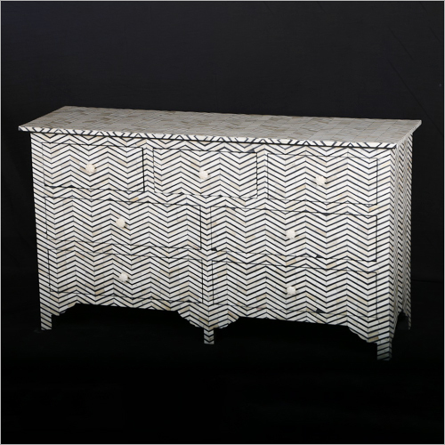 Mother of Pearl Inlay 7 Chest Drawer