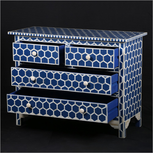 Mother Of Pearl Inlay 4 Drawer Chest