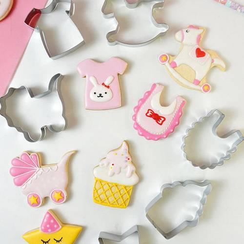 novelty baby bib cake cookie cutter