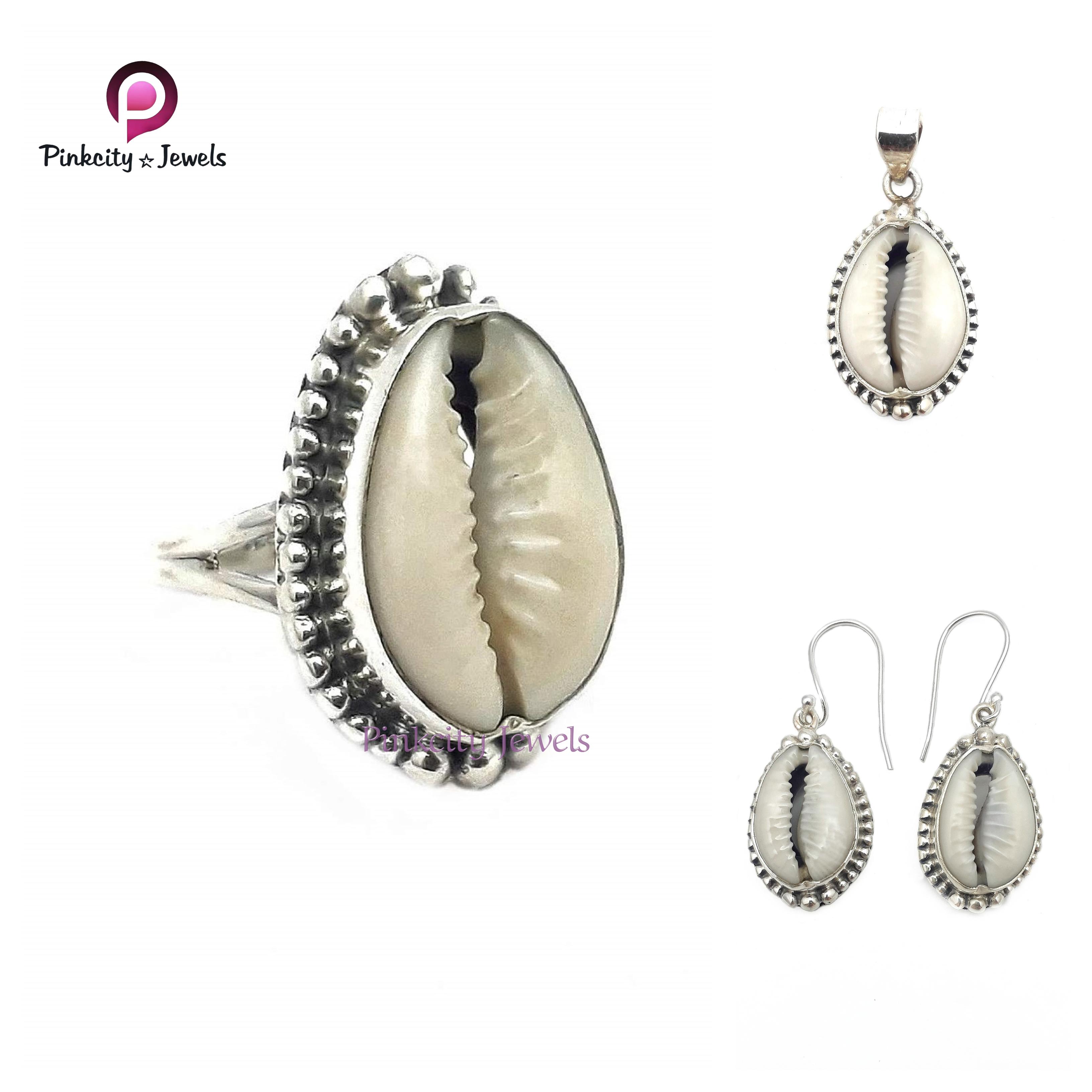 Natural Sea Shell 925 Silver Pendants