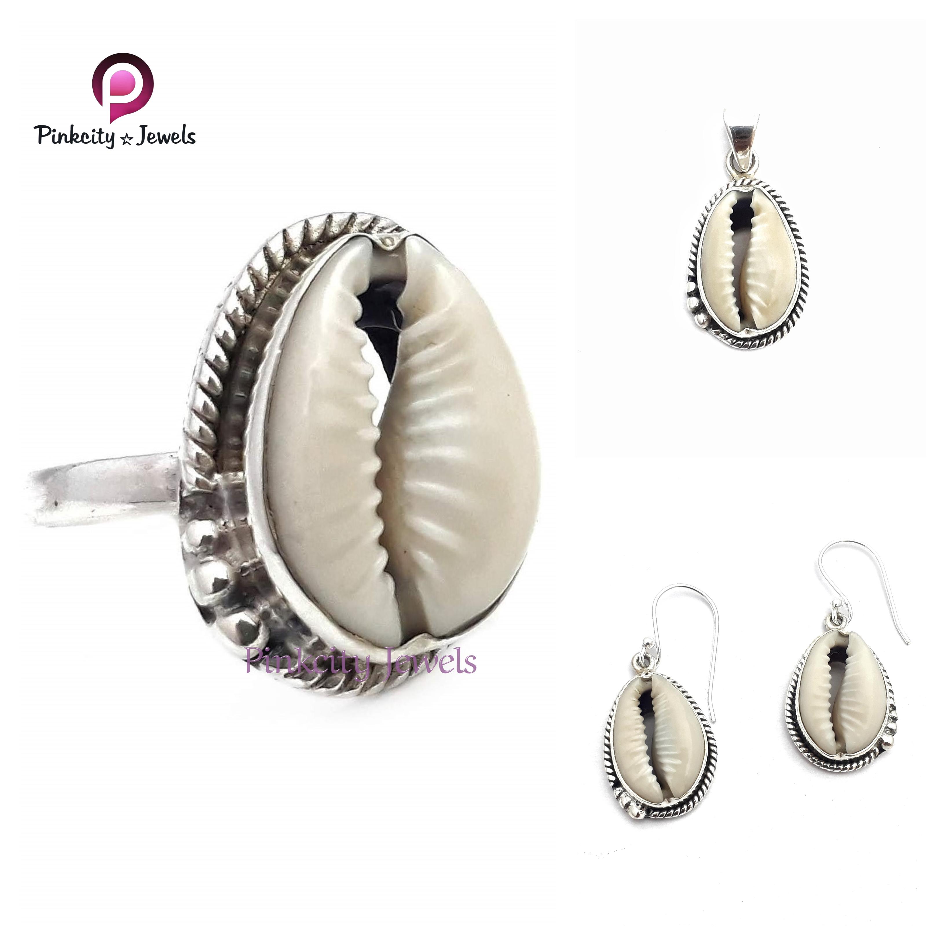 Indian Shell Codi 925 Silver Earring