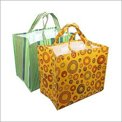Loop Handle Printed Shopping Bag