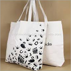 White Non Woven Printed Carry Bag