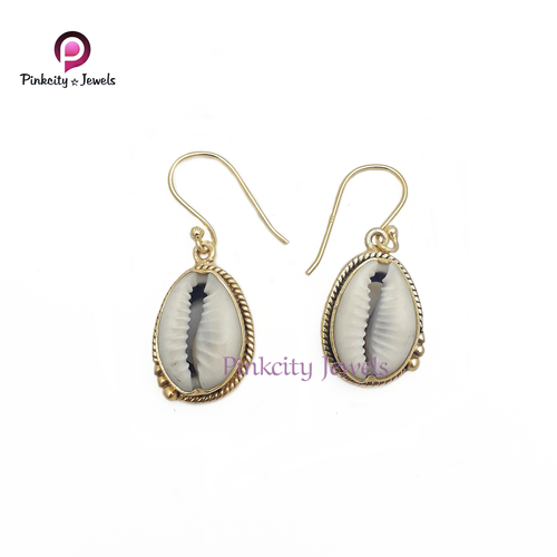 Natural Sea Shell Codi 925 Silver Earring
