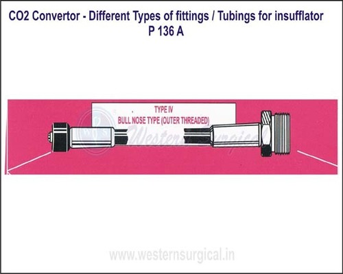 CO2 Convertor - Different Types of fittings  Tubings for insufflator