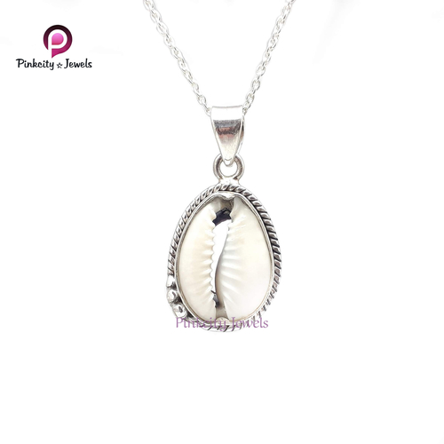 Natural Sea Shell 925 Silver Necklaces