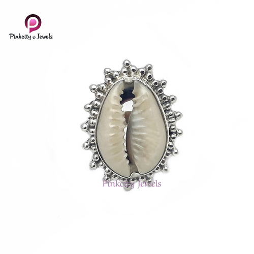 Natural Sea Shell (Codi) 925 Silver Ring