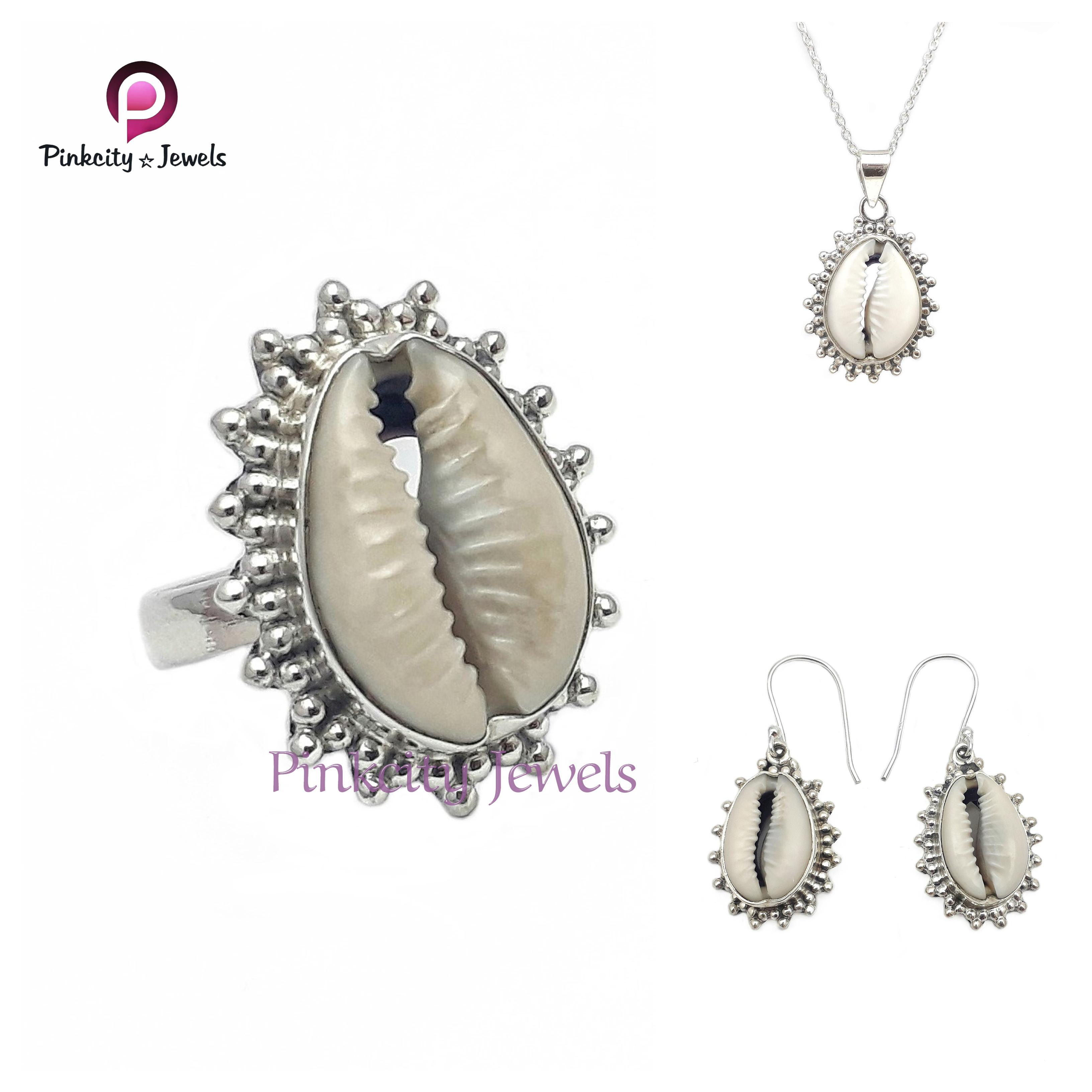 Natural Sea Shell (Codi) 925 Silver Ring