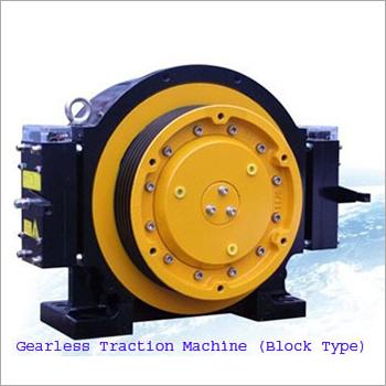 Block Type Gearless Traction Machine