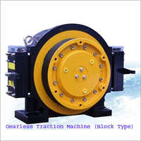 Block Type Gearless Traction Machine