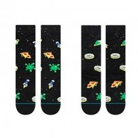 Sox Factory Supply Custom Made Fun Art Space Universe Pattern Socks Knitted With Anti-Bacterial Cotton Spandex
