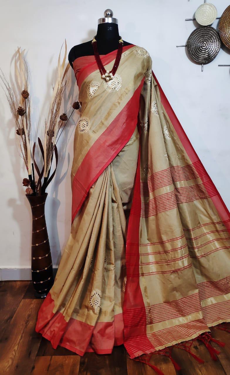 Designer Embroidery Saree