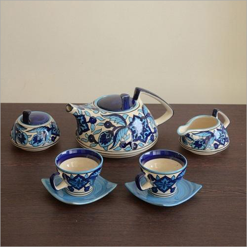 Handpainted Blue Tea Set