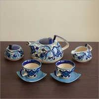 Handpainted Blue Tea Set