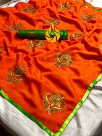 Cotton Silk Fancy Border Saree