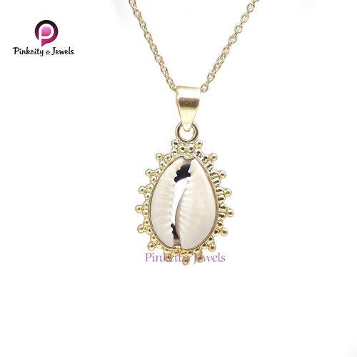 Natural Sea Shell (codi) 925 Silver Necklace