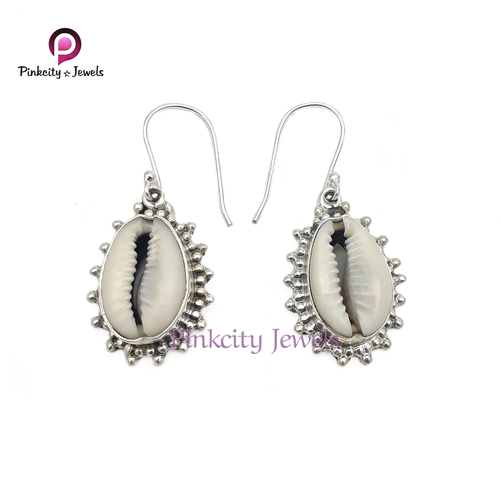 Indian Sea Shell (Codi) 925 Silver Earring