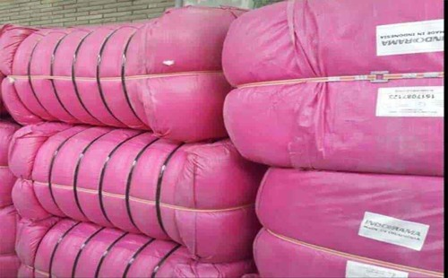 Fiber bales of Indorama Virgin Polyester staple fiber