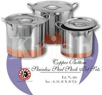 Copper Bottom stock pots