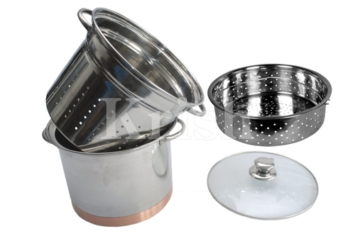 Copper Bottom Pasta Cooker set - 4 pcs