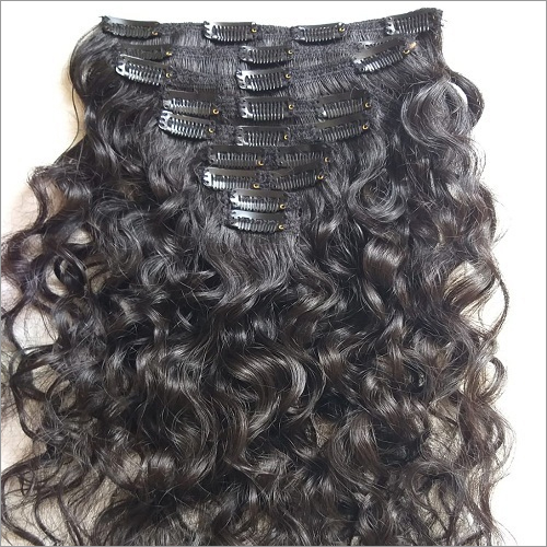 Raw virgin Curly Clip in hair Extensions