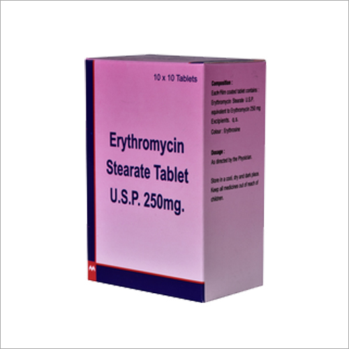 Erthromycin Stearate Tablets USP 250 mg