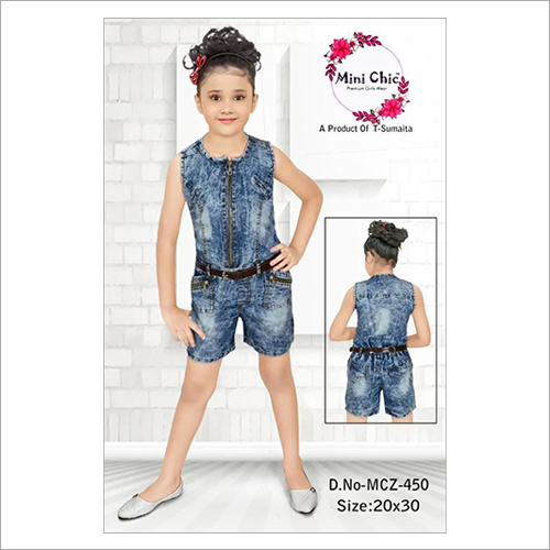 Girls Shorts Jumpsuit Wear