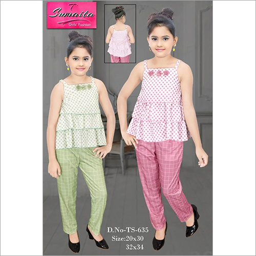 Girls Sleeveless Tops with Pants