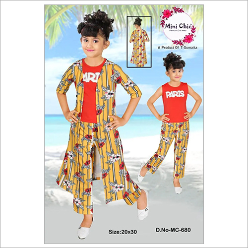 Kids Party Wear Shrug with Pant