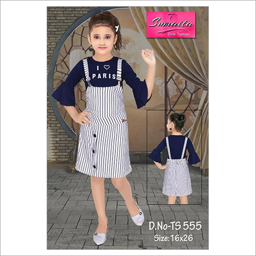 Kids Girls Suspender Skirt