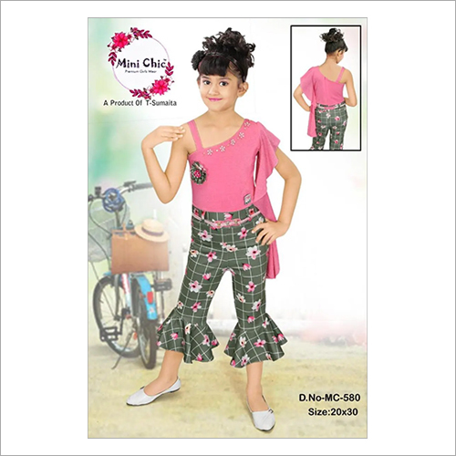 Girls Party Wear Capri With Top