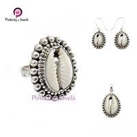 Sea Shell 925 Silver Earring