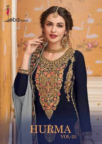 Top Georgette with embroidery With Bottom Dupatta