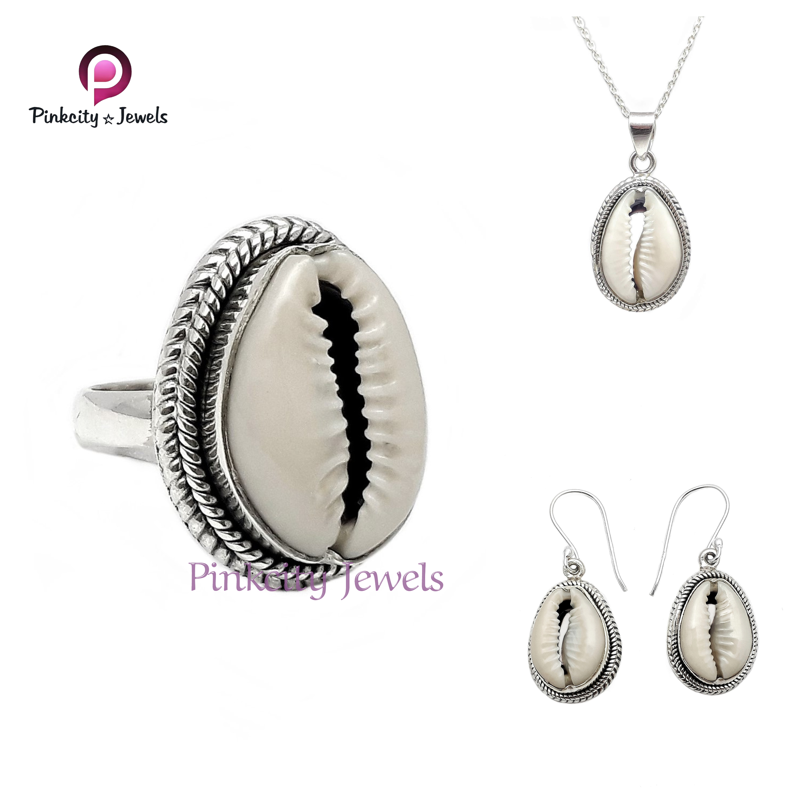 Natural Sea Shell 925 Silver Earring